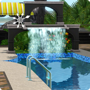 Tutorial: Sims 3 Resort bauen – Pool mit Wasserfall