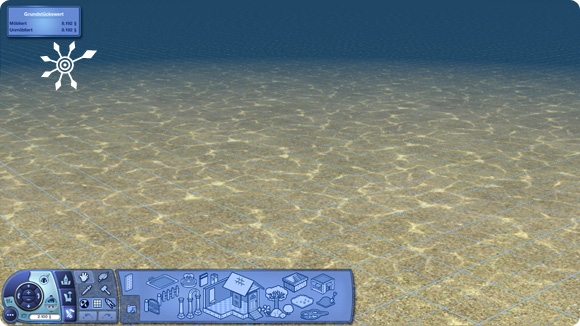 sichtbarer Meeresboden im Tauchbezirk