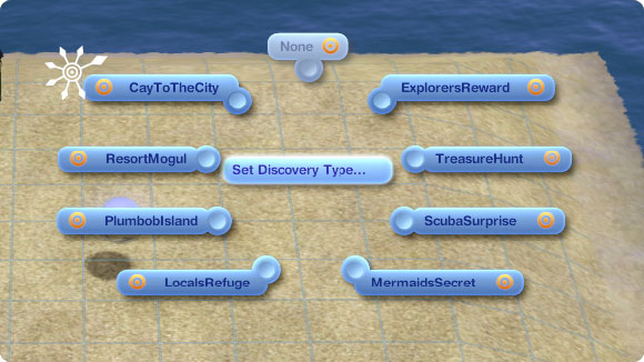 Marker für unentdecke Inseln: Set Discovery Type