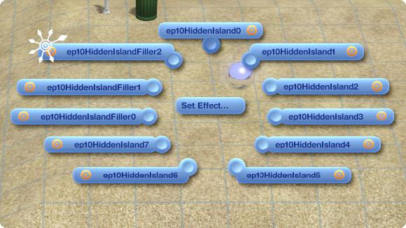 Marker für unentdecke Inseln: Set Effect