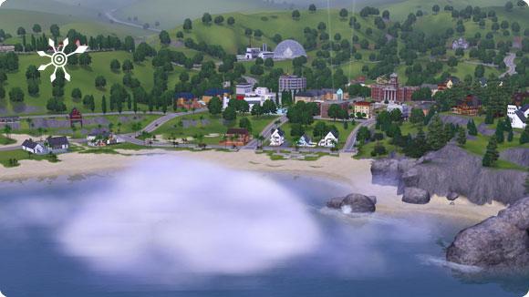 Unentdeckte Insel mit umgebenden Nebel