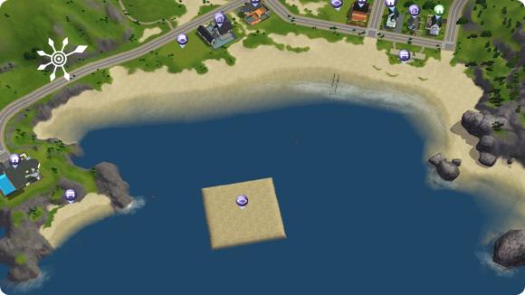 Sims 3 – platziertes Tauchgrundstück