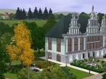Rathaus mit Grünanlage