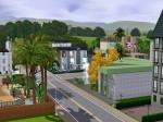 Blick auf das Bürogebäude, Casino und Fitnesscenter