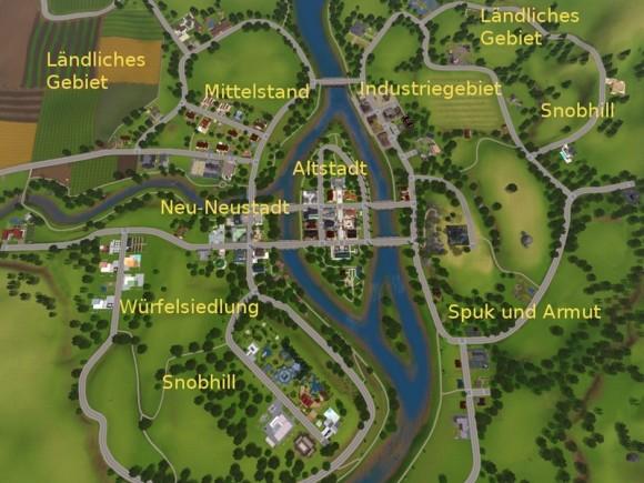 Neustadt an der Sim – Übersichtskarte