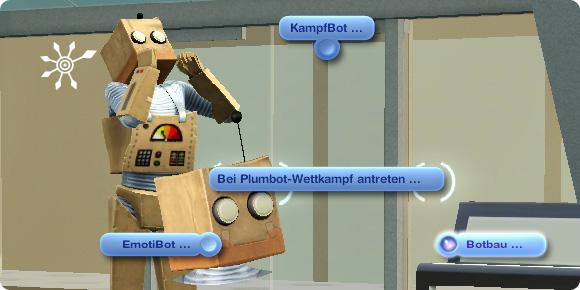 Sims 3 Fähigkeit Botbau – Blumbot-Wettkampf Botbau