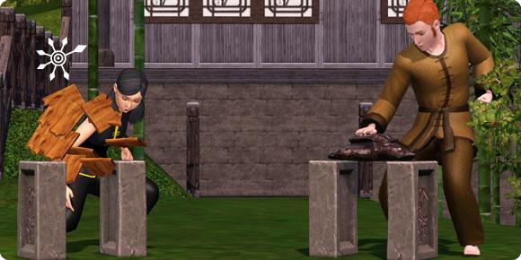 Die Sims 3 Fähigkeit Kampfkunst – Training am Schlagbretthalter