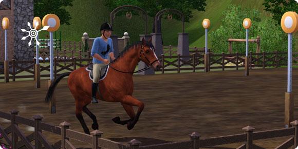 Die Sims 3 Fähigkeit Reiten – Renntraining