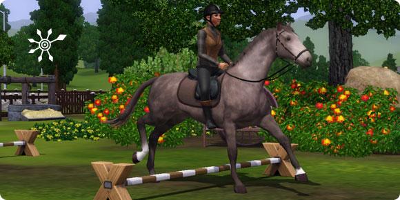 Die Sims 3 Fähigkeit Reiten – Springtraining