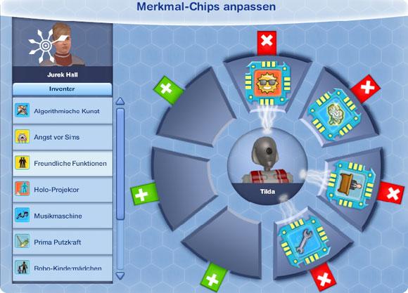 Merkmal-Chips anpassen