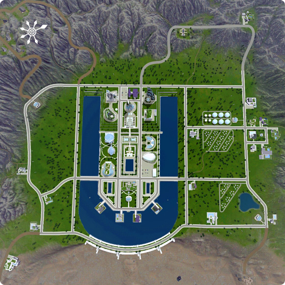 Die Sims 3 Welt Oasis Landing aus Into the Future