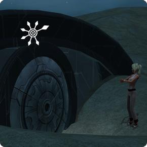 Geheinisvolle Tür in der Einöde untersuchen