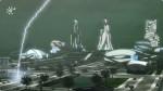 Dystopie mit nächtlichen Blitzeinschlägen