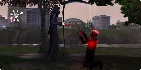 Mephisto Schauder um Gnade anflehen