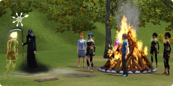Mephisto Schauder beendet eine Lagerfeuerparty