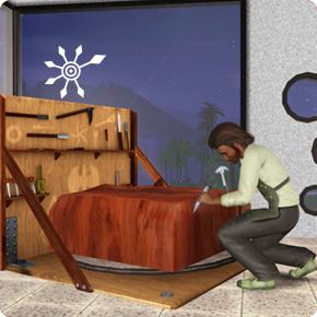 Bildhauer: Holzskulptur