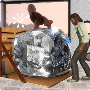 Bildhauer: Metallskulptur