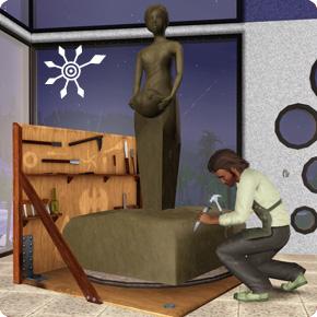 die sims 3 f higkeit bildhauen skulpturen und standbilder. Black Bedroom Furniture Sets. Home Design Ideas