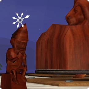 Skulptur Magischer Gartenzerg