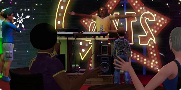 Auftritt als DJ an einem Veranstaltungsort