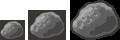 kleiner, großer und riesiger Meteorit