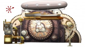 Showbühne: Bühnendekoration Steampunk Set