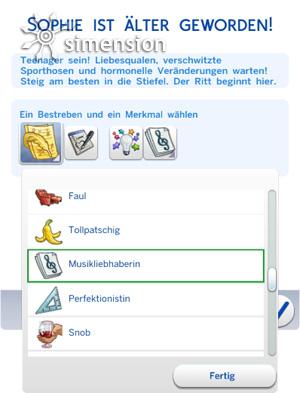 Alterung in Die Sims 4 mit Auswahl neuer und weiterer Merkmale