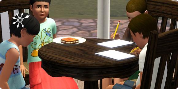 Haufaufgaben der Schulkinder müssen abgeschlossen werden