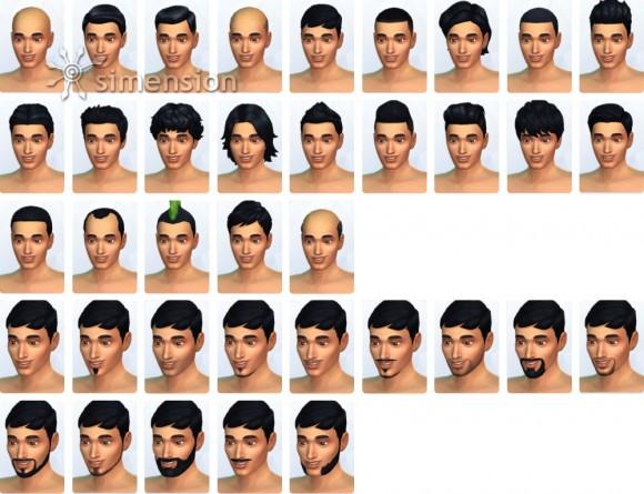 Die Sims 4 Frisuren und Bärte für Herren in Erstelle einen Sim