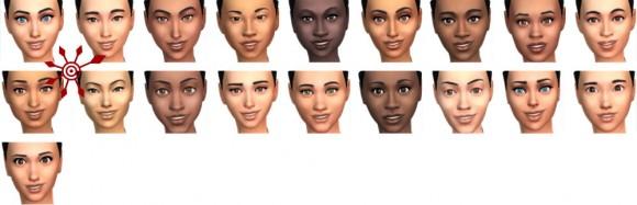 Die Sims 4 Gesichter und Hautfarben für Frauen in Erstelle einen Sim