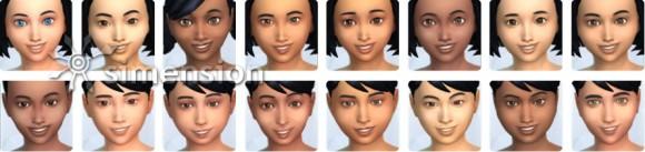 Die Sims 4 Gesichter und Hautfarben für Kinder in Erstelle einen Sim