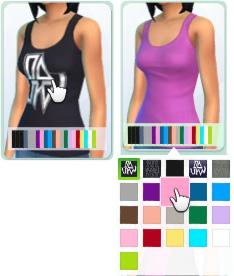 fest vorgegebenen Farbvarianten für alle Kleidungsstücke