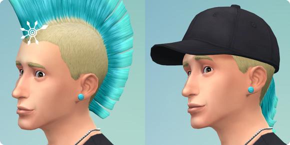 freie Kombinierbarkeit von Hüten und Mützen mit Frisuren in Die Sims 4