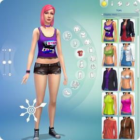 Körper-Modus mit Kleidungskategorien