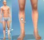 Sims 4: Körper formen im CaS: Unterschenkel