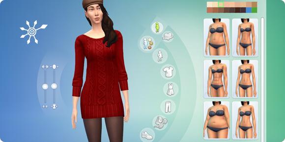 Körpermenü im Die Sims 4 Erstelle einen Sim