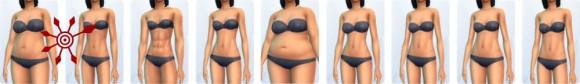 Die Sims 4 Erstelle einen Sim (CaS): Vorlagen für weibliche Körper