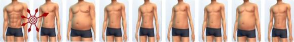 Die Sims 4 Erstelle einen Sim (CaS): Vorlagen für männliche Körper