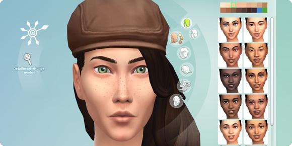 Kopfmenü im Die Sims 4 Erstelle einen Sim
