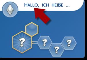 Namen wählen im Die Sims 4 CaS