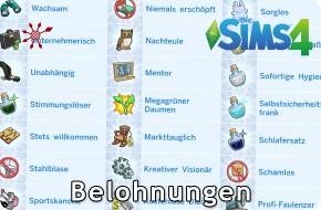 Die Sims 4 Belohnungen