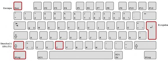 Die Sims 4 Cheats: Tastatur mit wichtigen Tasten