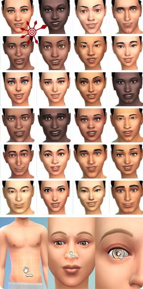 Sims 4 Ethnien und CaS-Modi