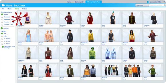 Die Sims 4 Galerie Meine Bibliothek