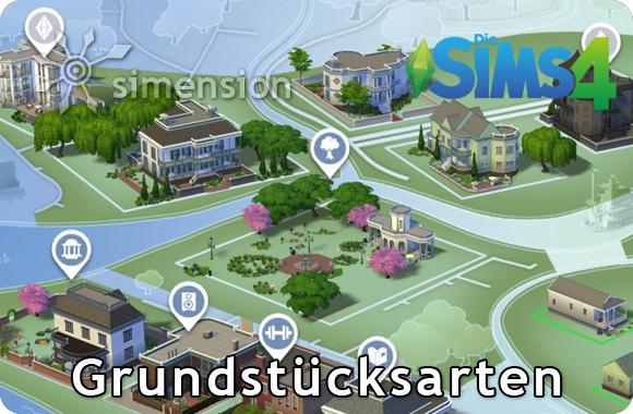 Die Sims 4 Grundstücksarten