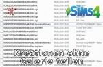 Die Sims 4 Kreationen ohne Galerie teilen