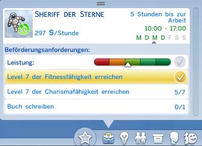 Sims 4 Karriere mit Beförderungsanforderungen