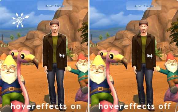 Die Sims 4 Cheats - hovereffects on/off