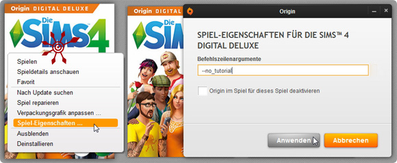 Die Sims 4 Tutorial in Origin abstellen