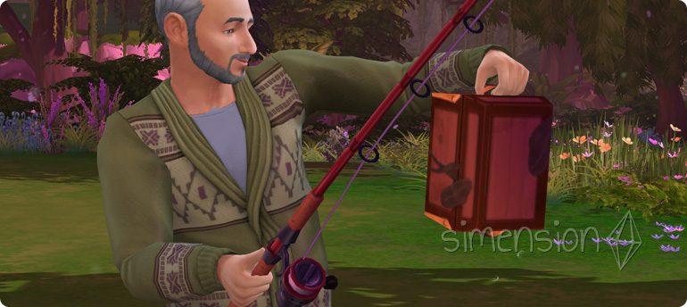 Beifang während des Angelns in Die Sims 4